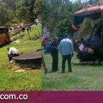 Ocho personas heridas dejó choque múltiple en la vía al Llano, cierre vía Bogotá – Villavicencio.
