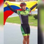 Bryan Santiago en el Mundial de Patinaje