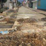 Reparación del Alcantarillado en el Barrio Simón Bolívar