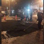 Recuperación vial nocturno en Villavicencio