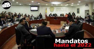 Alcaldía y Gobernación hasta el 2022