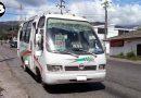 10 buses de servicio público inmovilizadas.