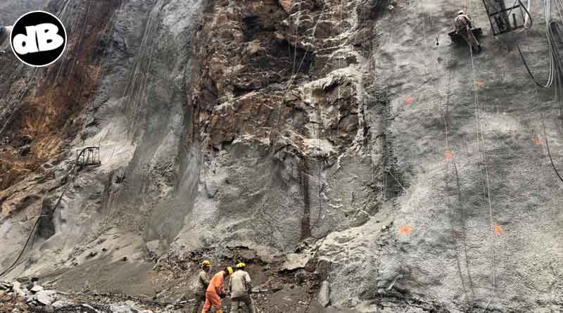 Imagen de la montaña de la vía 64+200.