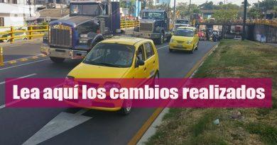Modifican el pico y placa para taxis en Villavicencio