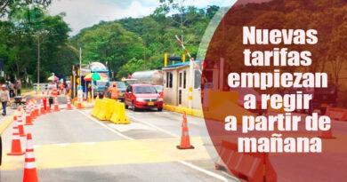 Estas son las nueva tarifas de peajes en la vía Villavicencio – Yopal