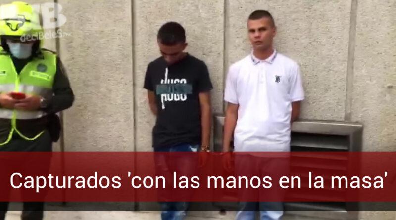Capturan en pleno centro de Villavicencio a dos presuntos ladrones