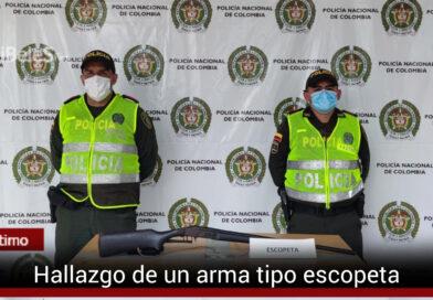 Hallan un arma de fuego en el municipio de Guamal