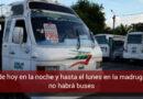 Desde esta noche quedará suspendido el transporte público colectivo en Villavicencio